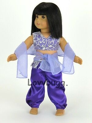 "Lovvbugg Purple Moroccan Dance Set for 18"" American Girl Doll Clothes"
