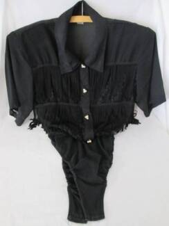 Ladies Retro Line Dancing Blouse.