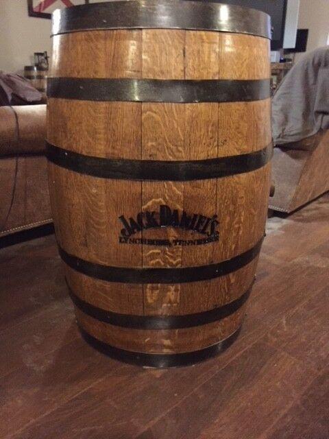 Authentic Jack Daniels No. 7 Finished Whiskey Barrel