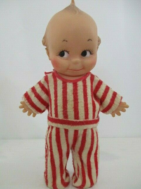 Vintage Kewpie Cameo Doll in Red Striped Pajamas, 773/1 JLK