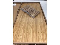 Brand New Kitchen Oak Peg Board Drawer insert plate stack with 16 Pegs