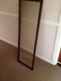 Vintage solid wood framed mirror