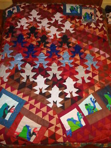 Quilt / Bedspread, Home Made, Titled Frogs 2