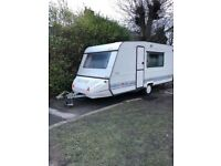 Rare Adria 6 berth caravan with full awning