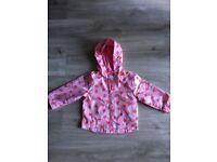 Girls strawberry raincoat 12-18m