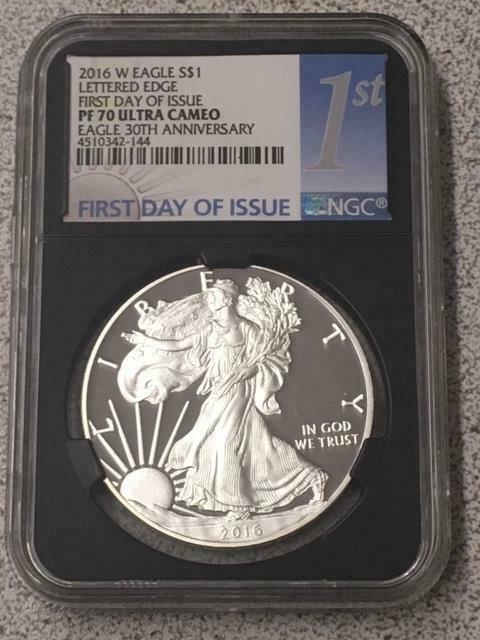 2016 W Proof PF70 Ultra Cam SILVER EAGLE 30TH ANNIVERSARY First Day NGC