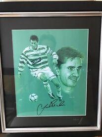Celtic Football Club , Jackie McNamara signed print .