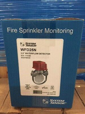 System Sensor Wfd25n 2.5 Waterflow Detector Fire Sprinkler Monitoring New