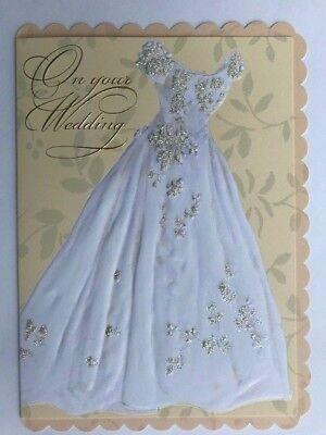 Carol Wilson Fine Arts Card Her Embossed Dress Wedding Married Zifen Qian