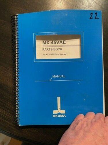 Okuma MX 45 VAE Parts Book