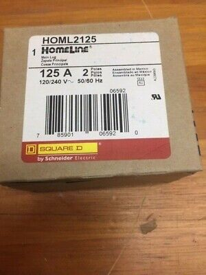Square D Homl2125 Subfeed Lug 2 Pole 125 Amp 120240v New In Box