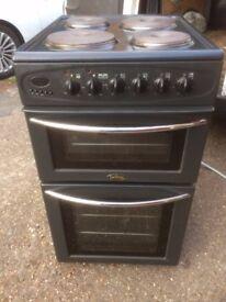 £92.34 belling grey electricv cooker+50cm+3 months warranty for £92.34