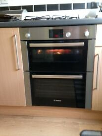 Bosch HBN13B251B Double Built-Under Electric Oven, Stainless Steel - Good condition