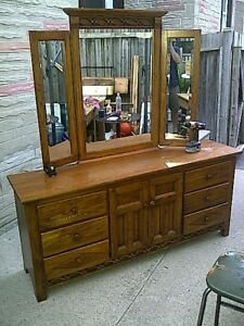 Vintage Webb dresser with mirror