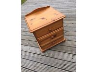 3 drawer Solid Pine Bedside table - good condition
