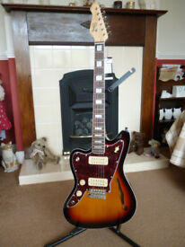 Revelation RJT-60 TL Thinline LEFT HANDED Electric Guitar. Unused Only Unboxed Today. Pre CITES Ban