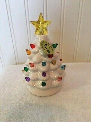 Tiny Treasures by Ashland: Mini White Ceramic Light Up Christmas Tree