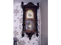large antique vienna type wall clock perfect working order