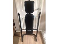 Pro fitness weight bench and weights 1 month old