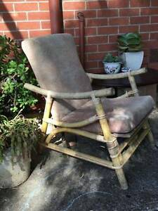 2x Reclining Cane Armchairs Pasadena Mitcham Area Preview