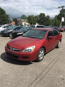2007 Honda Accord Sdn SE , certified, low kilometres, clean