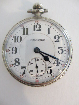 Antique Hamilton 14k Gold Filled Model 992 Railroad Pocket Watch