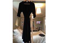 Black Serephine Wrap Dress