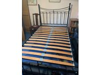 Feather and Black Bed Frame