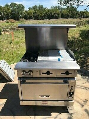 Vulcan V2bg4t Heavy Duty Natural Gas Range Convection Oven