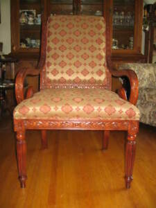 Furniture Art Deco Living Room Chair - $275