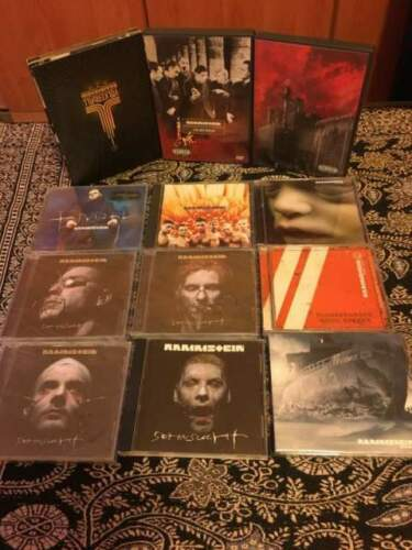 Rammstein : lotto stock compatc disc e dvd ,...
