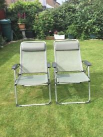 2 x Lafuma Folding Garden Chairs