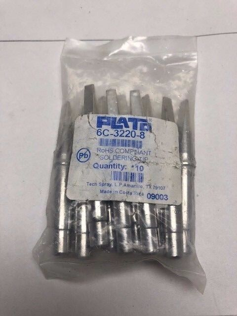 Plato 6C-3220-8 Stained Glass Soldering Iron Tips 10 packNew fits Weller 100w