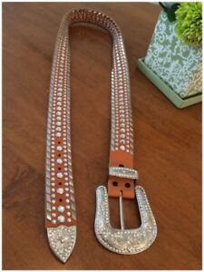STUNNING CRYSTAL AND STUDDED BELT