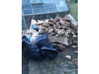 Hardcore concrete rubble - large and small
