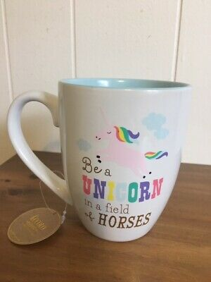 New Eccolo Be a Unicorn in a Field of Horses Whimsical Coffee Mug Unicorn (Be A Unicorn In A Field Of Horses)