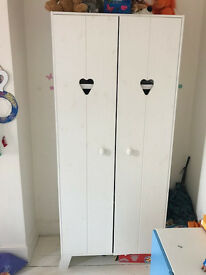 Lovely whitewash wardrobe for sale