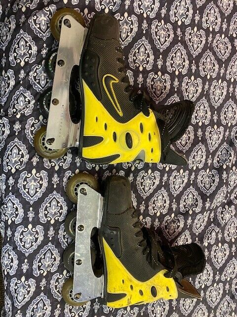 Men's Nike Zoom Air Hockey Rollerblades In-line Aluminum US Size 12