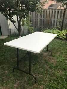 30 x 60 in foldable table for sale (+ 4garden chairs - optional)