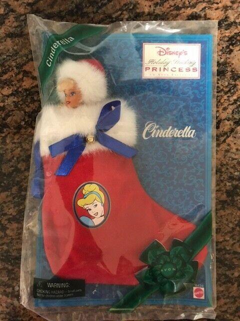 "DISNEY Princess CINDERELLA Holiday Stocking Avon Exclusive 7"" Doll Mattel NEW F2"