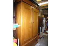 Large Antique Georgian wardrobe mahogany and pine