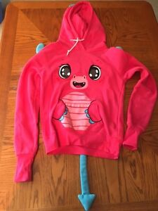 Girls Youth Small Pink Dragon Hoodie