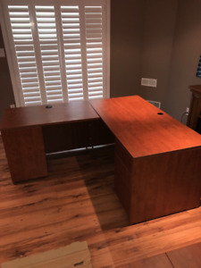 Desk and credenza