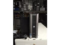 """Dell Optiplex 760 Core 2 Duo E8400 3ghz 2GB 160GB USFF with 17/"""" LCD and AC"""