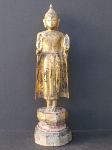 Antique Buddha Wooden Thailand, Ayuthaya