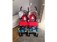 Double buggy - Cosatto Supa Dupa Twin in Cuddle Monster 2