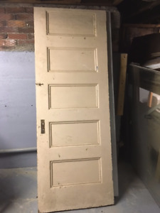 Antique Solid Wood 5 Panel Doors from  Century home