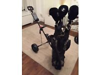 Full set of clubs, bag, trolly and accessories