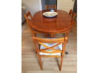 Expanding Yew wood Dining table & Chairs