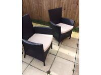 Rattan Effect Garden Chairs
